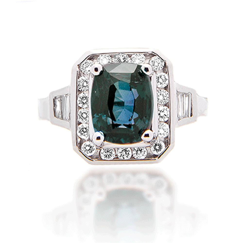 Natural 3 70 Ct Color Change Alexandrite Vs F Diamond 14k